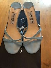 Jimmy Choo Light Blue Leather Strappy Sandals - 37(4)
