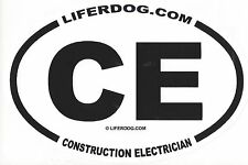 4 x 6  OVAL  UNITED STATES  NAVY CE CONSTRUCTION ELECTRICIAN STICKER
