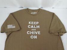 Keep Calm and Chive On  XXL T Shirt Chive Tees Made in 'Merica