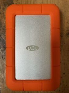 LACIE RUGGED MINI 2TB orange external hard drive USB 3.0 micro-B thunderbolt