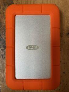 LACIE RUGGED MINI 2TB orange external hard drive USB 3.0 micro-B thunderbolt C A