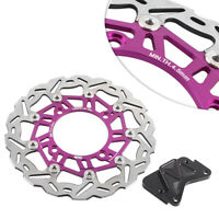 Motor Cycle Purple Floating Front Brake Disc Rotor For Honda FORZA 250 2000-2007