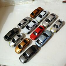 12 Model Railway Cars HO OO Scale 1:100 Multi-Coloured, Roads & Scenery.