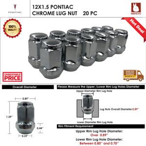 20PC PONTIAC G3/G5/G6/GRAND AM/GRAND PRIX  12X1.5 CHROME ACORN WHEEL LUG NUTS