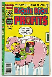 Richie Rich Profits #34 (Harvey, 1980) – Little Dot – Irona – VG/FN