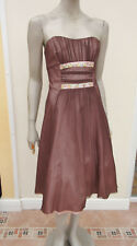 Next Woman - Brown / Pink Multi Layer Strapless Special Occasion Dress - size 10