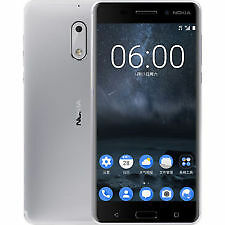 New Imported - Nokia 6 - Silver Duos  64GB - 4GB - 5.5 - 16MP - Warranty