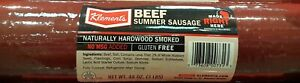 NEW-3 Pounds Klement's Beef Summer Sausage Log, Great for Snack, Gift,or Party.