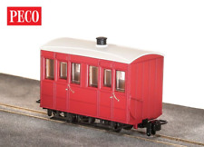 More details for peco gr-500ur glyn valley tramway 4 wheel enclosed side coach red oo-9 gauge