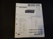 ORIGINALI service manual Sony xr-c410/c412