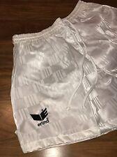 """NEW Vtg 80s White Erima CHECKERBOARD Nylon Mens MEDIUM Soccer 2.5"""" Inseam shorts"""