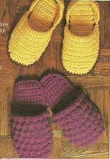 *His & Hers Toe Cozies Slippers ( 2 styles) crochet PATTERN INSTRUCTIONS