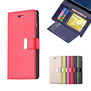 For Samsung Galaxy S10 S10 Plus Wallet Leather Case Flip Card Soft Cover