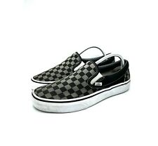 VANS Slip On Gray Black Checkered Low Top Shoes Mens Size 9 Womens 10.5