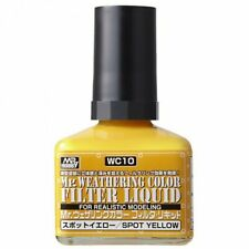 VOLKS WC10 Creos Mr. Weathering Color Filter Liquid Spot Yellow 40ml Hobby Toy
