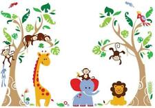 Jungle Animal Wall Decals Autocollants muraux décoration Baby Nursery Kids Room ...