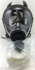 Mestel Safety SGE 400 Gas Mask w/40mm NATO NBC Filter - NEW / Both made 2017