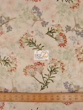OAK AVENUE FLORAL BY WIND APPLE FOR DAVID TEXTILES 100% COTTON FABRIC FH-1487