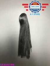 1/6 scale LONG BLACK Hair Wig for 12'' Female Figure Doll