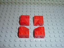 4 x LEGO toit maison Red Slope roof Brick ref 3046 / Set 6754 4886 248 483 346..