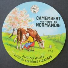 Etiquette fromage CAMEMBERT AUTHOU Eure french cheese label 26