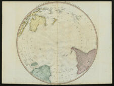 Southern Hemisphere. Antarctic South Pole/America New Holland. FADEN 1802 map