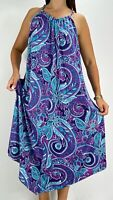 MILLERS Purple Floral Boho Print Asymmetric Midi Shift Dress Plus Size AU 20