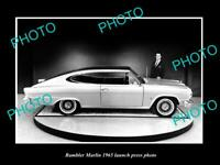 OLD POSTCARD SIZE PHOTO OF 1965 RAMBLER MARLIN LAUNCH PRESS PHOTO 1