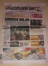 GAZZETTA DELLO SPORT 19 SETTEMBRE 2008 MARADONA INTER MILAN