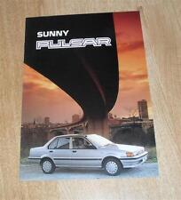Nissan Sunny Pulsar Brochure 1988 - LS GS GSX - UK Market