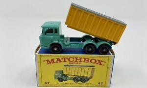 Matchbox No. 47 DAF Tipper Container Truck in Original 'E4' Box