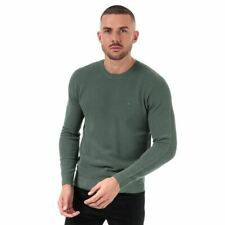 Men's Lacoste Crew Neck Cotton Piqué Sweatshirt in Green