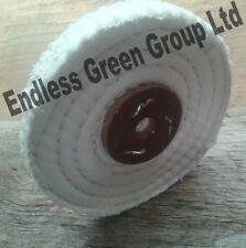 "4"" Stitched Cotton Buffing Wheel - 100mm x 13mm   Polishing Mop  C100/1"