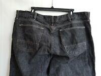 Arizona Jeans Mens Black Denim Straight Leg Zip Pockets Size 42X32