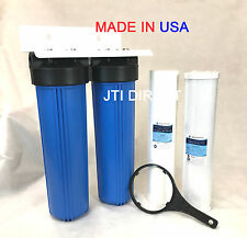 """AquaMaxx 2-Stage 20"""" Big Whole House/Mobile Car Wash Water Filter Set System"""