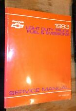 1993 CHEVROLET C/K TRUCK  FUEL SYSTEM & EMISSIONS SERVICE MANUAL GASOLINE ENGINE