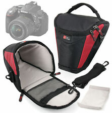 Black & Red Strong Travel SLR Carry Case for Nikon D5300 & Nikon D3300