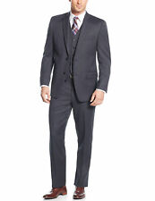 MICHAEL KORS Charcoal Birdseye 2pc Suit 38 Regular 38R Flat Front Pants 31W $650
