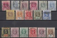 AD4783/ BRITISH GAMBIA – 1902 / 1922 USED SEMI MODERN LOT – CV 190 $