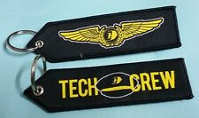ONE Embroidery Keychain Tech Crew Malaysia Airlines MAS logo MH Aviation Flight
