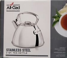 All-Clad 2 QT Stainless Steel Whistling Tea Kettle
