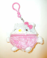 ~*~Sanrio Hello Kitty Cute Round coin pouch Clip On Key chain Key ring ~*~