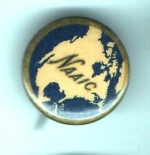 Early 1900s pin NAAIC Map North America Accident INSURANCE Co. pinback