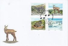 Liechtenstein 2013 FDC Animali giovani Della Regione alpina 4v Set Coprire Ibex Marmot