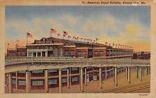 Kansas City Missouri American Royal Building Linen Antique Postcard K21770