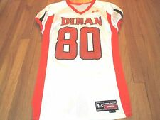 GAME WORN 09 DIMAN RVT HIGH SCHOOL (MA) UNDER ARMOUR FOOTBALL JERSEY SIZE L