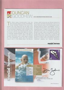 G.B. London 2012 Olympic Games, Medal Heroes, Duncan Goodhew MBE Signed Cover