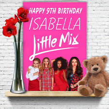 EXTRA LARGE Little Mix *Personalised A4 Birthday Card* Perrie Jesy Jade Leigh