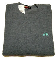Maglione La Martina Maglia lana 100% Originale Sweater Grigio Men Uomo Grey