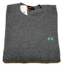 Suéter La Martina suéter lana 100 % Original suéter Gris Hombres Hombre gris